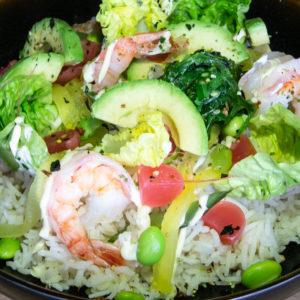 Poké bowl: garnaal