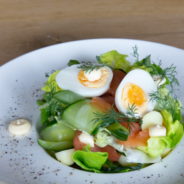 take away rivero schoonhoven salade gerookte zalm